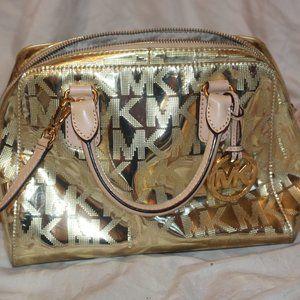 Michael Kors Grayson Signature Satchel Bag Purse